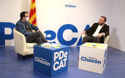 Marc Cerón posa en valor la tasca d'Àngels Chacón al capdavant de la conselleria d'Empresa i Coneixement i diu que, amb ella, les empreses estarien molt més escoltades i ateses